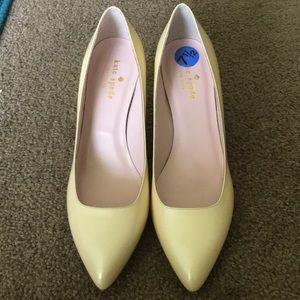 Kate Spade. Yellow Heels. Size 7.5